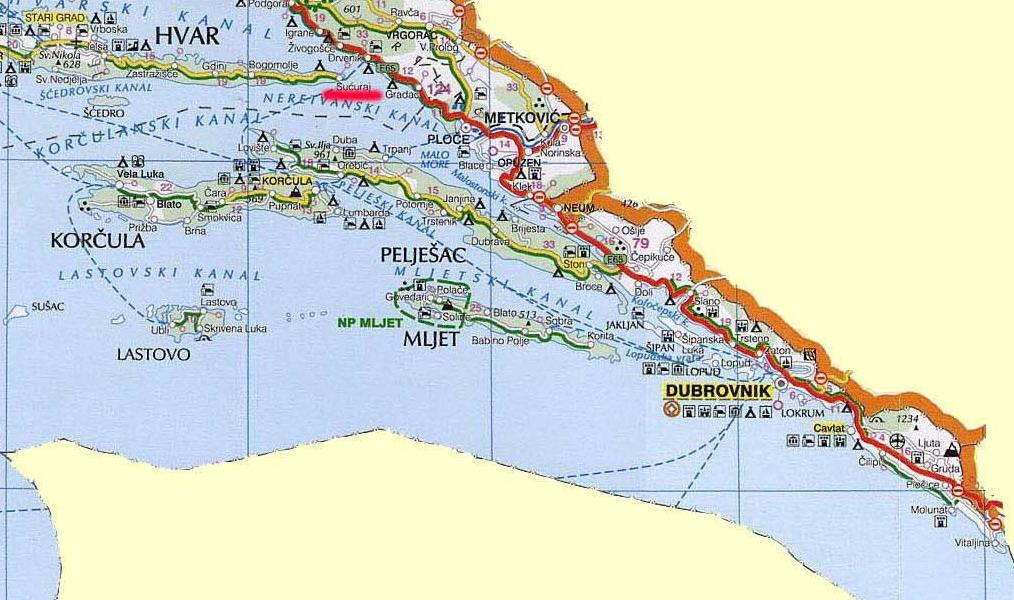 dalmacija mapa Apartmani Hrvatska   Južna Dalmacija   Davor Krtalić   Dalmatinac dalmacija mapa